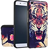 MOONCASE Huawei Y6 Case, [Tiger] 3D Embossed Painting Series Protective Case Cover for Huawei Y6 / Honor 4A Anti-Slip Soft TPU Gel Case