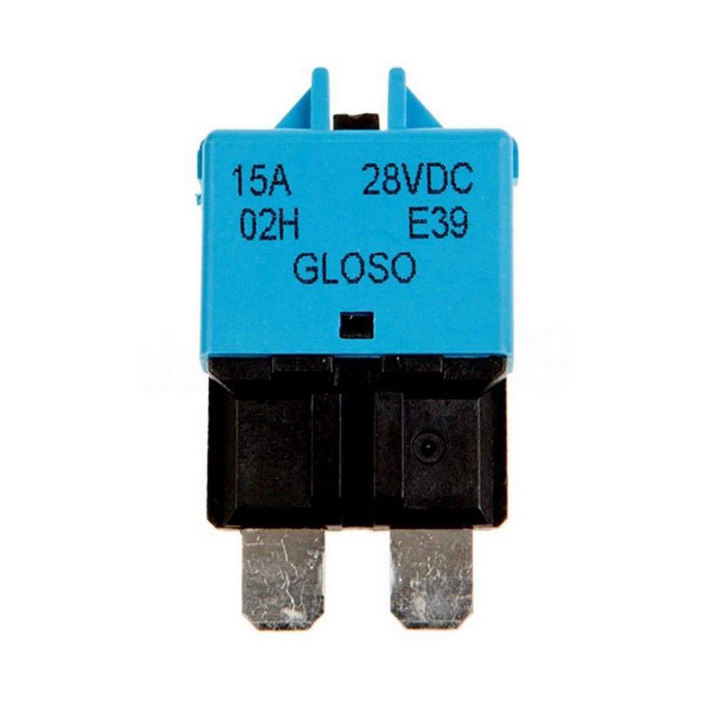 E Support 12V//24V 25A Kfz Audio Manuelle Reset Schalter Audio Inline Leistungsschalter Sicherungshalter Schutz Sicherung zur/ücksetzen