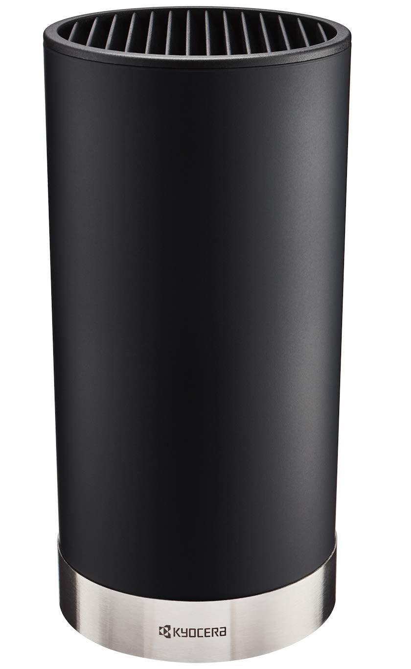 Kyocera KB5PC-FKBKBK-U-BK Knife Block Set, Blade Sizes: 7-inch, 5.5-inch, 4.5-inch, 3-inch, Black