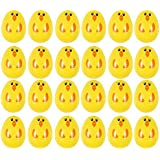 Set of 24 chick plastic surprise eggs fill with easter hunt gifts 24 yellow easter chick fillable plastic surprise eggs fill with easter hunt gifts and chocolate negle Choice Image