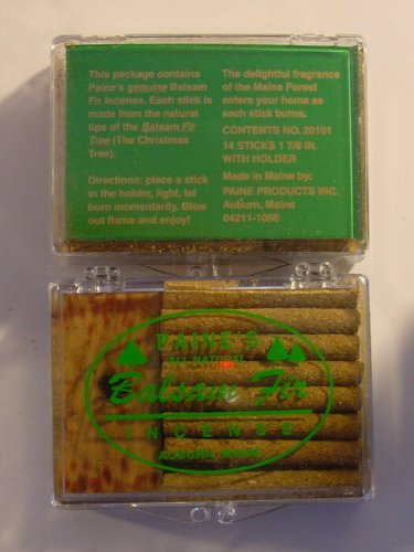 1 X 14 Balsam Sticks and Holder In Plastic Case - Paine's Fir Balsam Incense