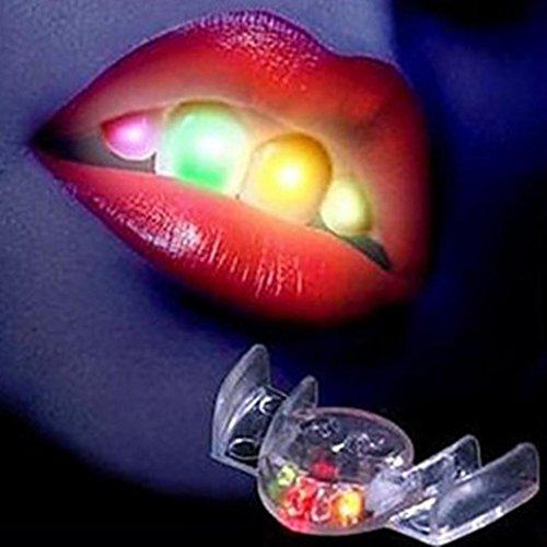 False Teeth for Adults Costume,Putars Fashion LED Light