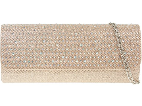 Bag Woven Satin Elegant Designer Champagne HandBags Prom Diamante Girly Wedding Clutch Womens pUBIIq