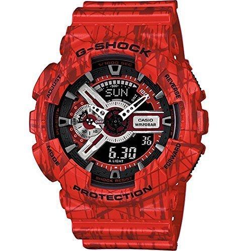Casio G-Shock Black Dial Red Resin Quartz Male Watch GA110SL-4ACR