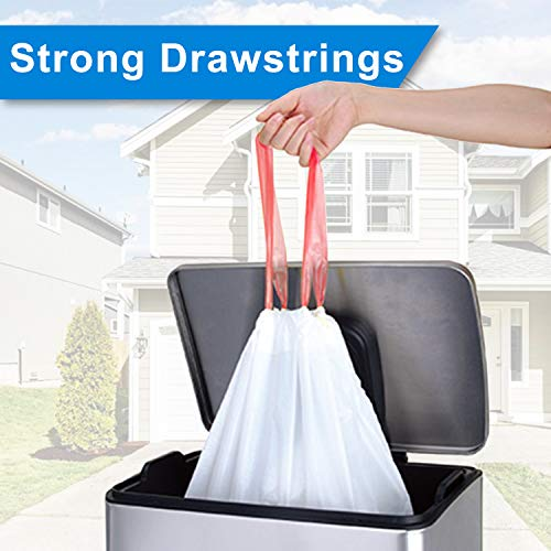Drawstring Trash Bags,MEMX 4 Gallon Small Garbage Bags Wastebasket Bin Liners Strong Plastic Trash Bags for Bathroom,Bedroom,Office Trash Can.(100 Count)