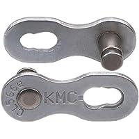 KMC 9 Speed Ept Missinglink verbindingslid, donker zilver, 2 paar