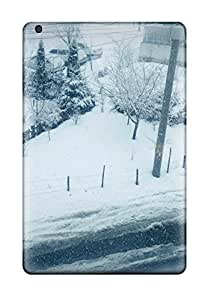 High Impact Dirt/shock Proof Case Cover For Ipad Mini/mini 2 (winter Outside Snow Roads Buildings Vignette Kids Jackets Dresses Shoes Vacations Season Coats Fall Nature Winter)