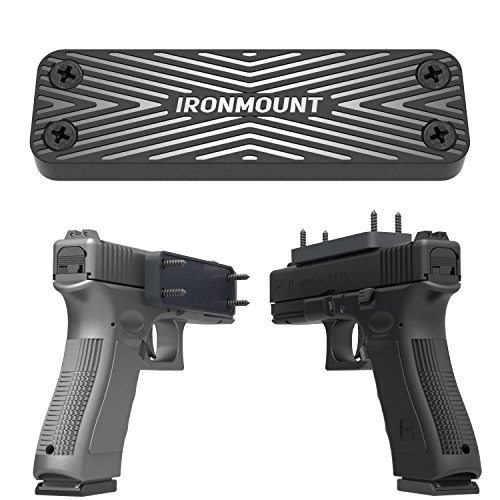 Purchase IronMount Magnetic Gun Holster Rubber Coated 43 Lbs Rated Gun Magnet Mount - Concealed Hold...