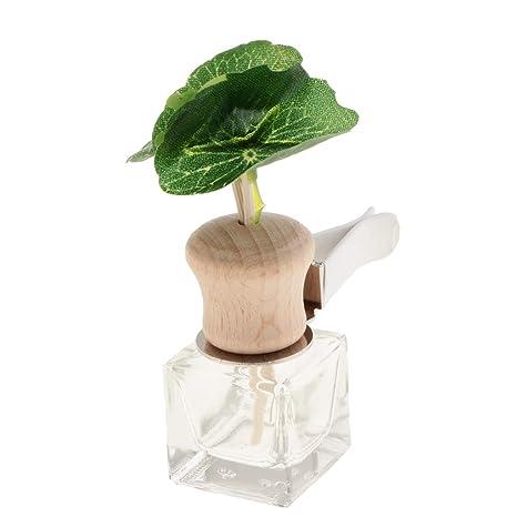 Homyl Vacía Botella de Vidrio Frasco para Poner Perfume Aceite Esencial - Cuadrado