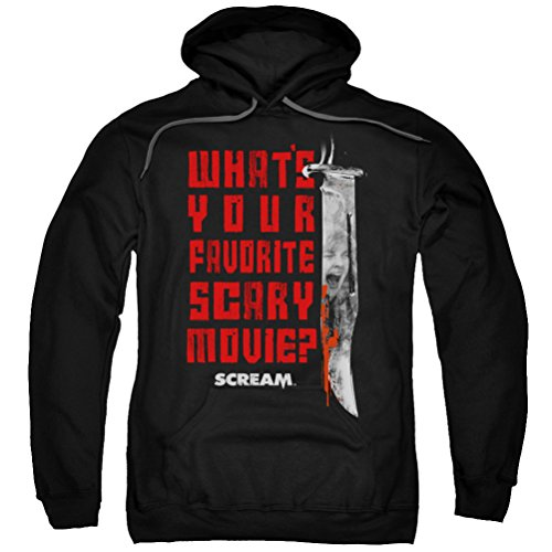 Scream What's Your Favorite Scary Movie Hoodie, Black, Medium]()