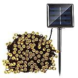 Home Garden Best Deals - Qedertek Solar String Lights, 72ft 200 LED Fairy Lights, 8 Modes Ambiance Lighting for Outdoor, Patio, Lawn, Landscape, Fairy Garden, Home, Wedding, Waterproof (Warm White)