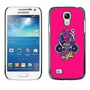 Be Good Phone Accessory // Dura Cáscara cubierta Protectora Caso Carcasa Funda de Protección para Samsung Galaxy S4 Mini i9190 MINI VERSION! // Music Text Graffiti Speaker
