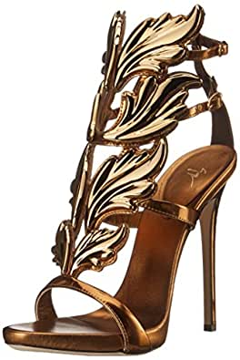 Amazon Com Giuseppe Zanotti Women S Gold Leaf Strappy