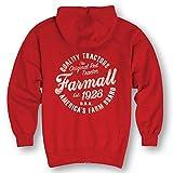 Farmall Circle Adult Zip Hood