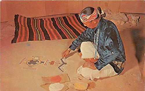 - Navajo Sand Painter Indian Postcard