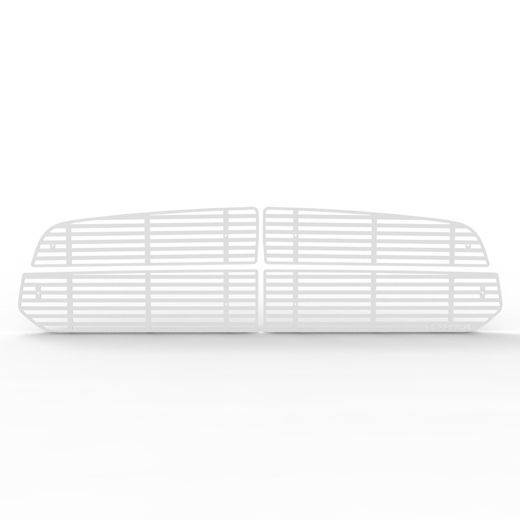 Ferreus Industries Grille Insert Guard Horizontal Billet White Powdercoat fits 2013-2015 Dodge Ram 1500 TRK-163-01-White-a