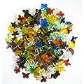 Jennifer's Mosaics 2-Pound Mega Mix Glass Charmers, Assorted Colors