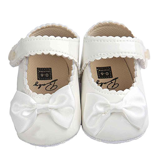 Danhjin Mary Jane Front Bow Buckle Ballerina Flat for Babies and Toddlers ()