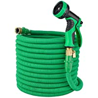 Elite4 100ft Expandable Garden Hose, Leakproof Patent...