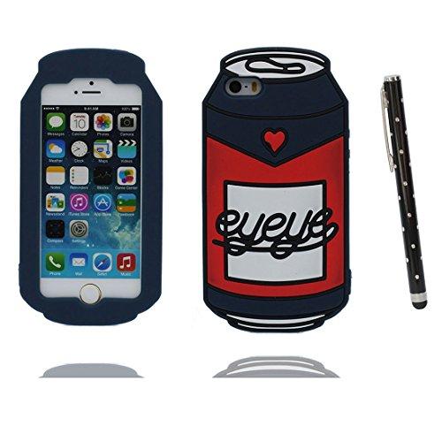 """iPhone 6 (4.7"""") Coque, [ de matériau TPU souple élégant durable canette ] iPhone 6s étui (4.7 pouces), poussière glissement résistant aux rayures, iPhone 6 (4.7"""") Case et stylet"""