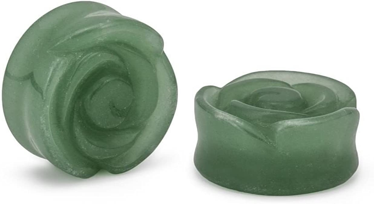 """Price Per 1 Opal Stone Plug with Carved Rose Front 2g to 1"""""""