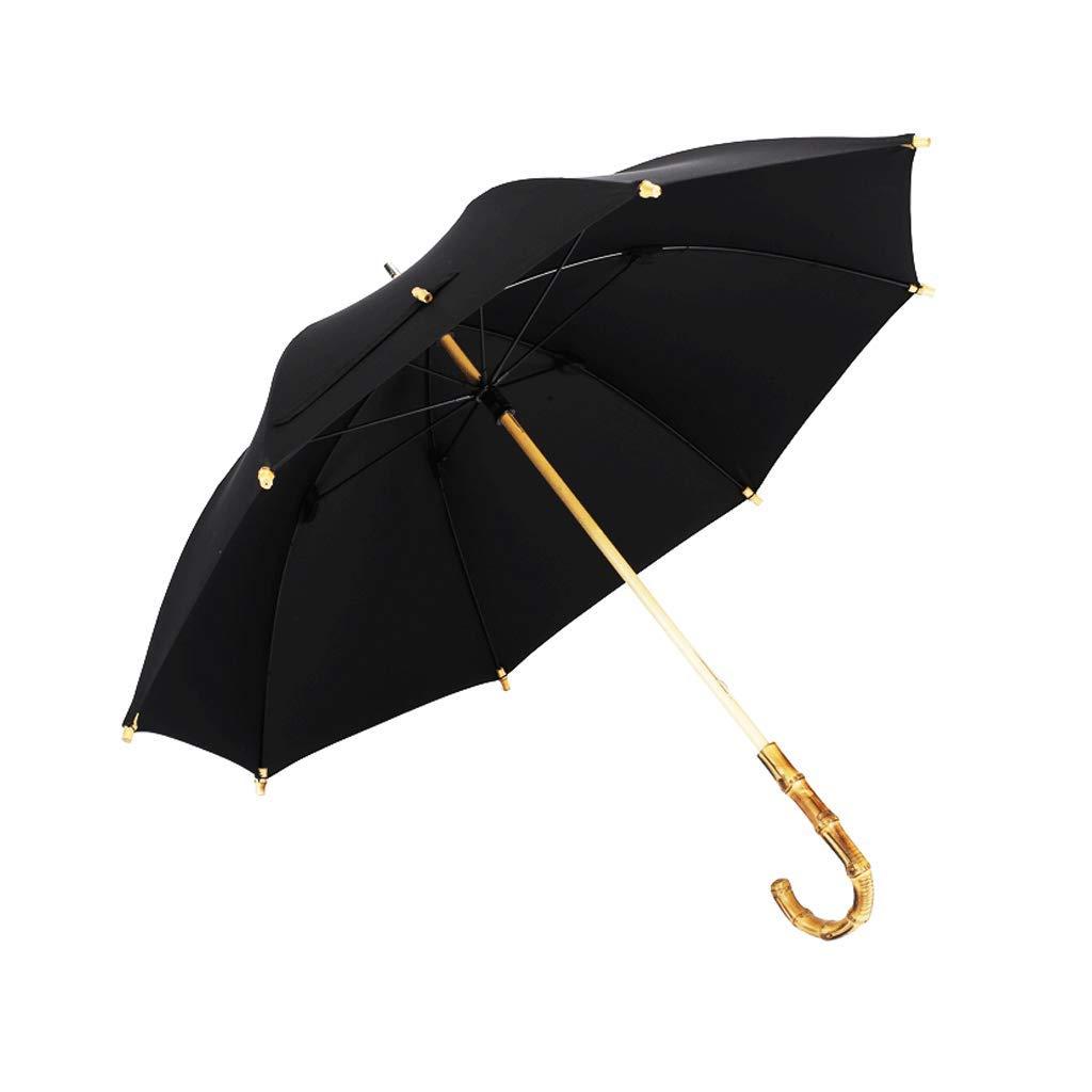 LAAN 防風スティック傘 ブラック ゴルフ傘 防水 日除け クラシックなデザイン ビジネス/旅行/アウトドア傘 メンズ レディース 48インチ   B07P9SZ7RQ