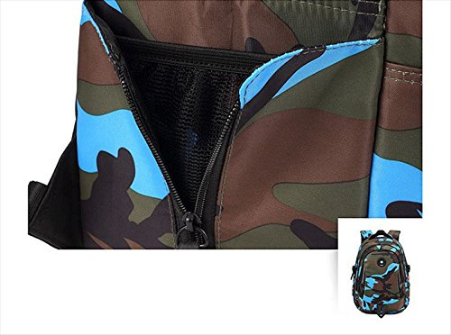 Camouflage Backpack, Large Capacity Water-Resistant Student Children School Bag by MATMO (Image #7)