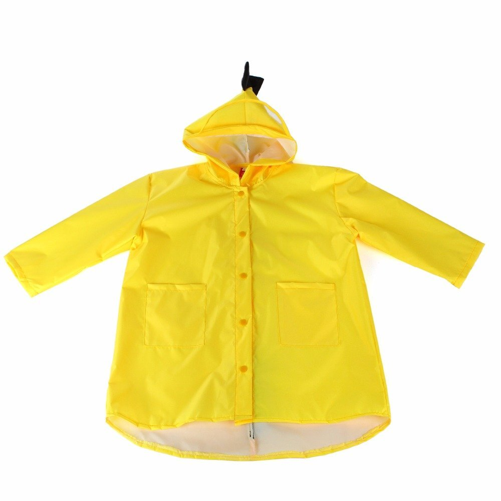 Labu Store Cute Small Dinosaur Waterproof Polyester Rain Coat Boy Children Girls Windproof Poncho Kindergarten Student Baby Raincoat