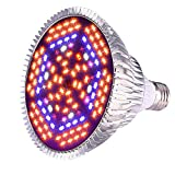 D-FLIFE Full Spectrum 80W Grow Light Bulb New Led Grow Lights Head 2018 | Plant Light 120 Led Beads for Indoor Plants Hydroponic Garden Greenhouse (E27 Socket) Review