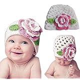 Tenworld Cute Kids Infant Toddler Girl Warm Big Flower Baby Beanie Knit Hat Cap