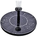 MADETEC Solar Birdbath Fountain Pump, 1.4W Solar Outdoor Water Fountain Panel Kit for Bird Bath,Small Pond,Garden and Lawn