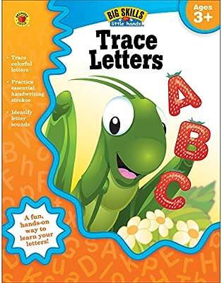 Amazon Com Trace Letters Workbook Grades Preschool K