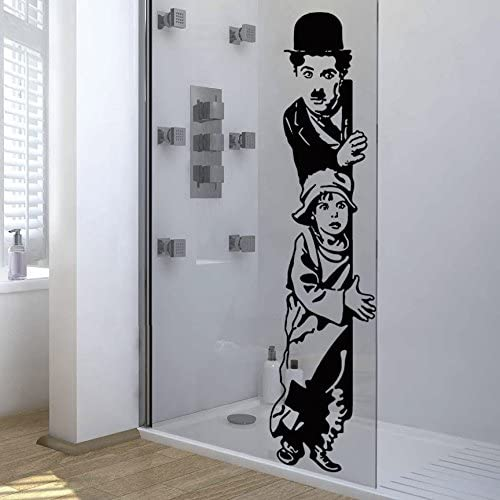 IDEAVINILO Vinilo Decorativo Charles Chaplin, The Kid. Color Negro. Medidas: 30x110cm.: Amazon.es: Hogar