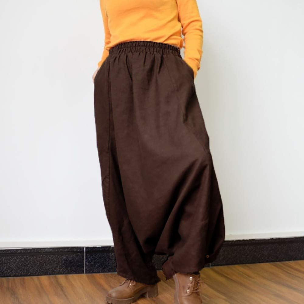 ba0ed08ce9 Amazon.com: Women's Harem Pants Sunyastor Soft Modal Yoga Pants Long Baggy  Sports Workout Dancing Trousers Boho Trousers Wide Leg Pants: Clothing