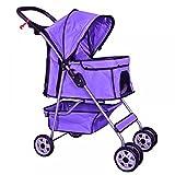BestPet Pet Stroller Cat Dog Cage Stroller Travel Folding Carrier