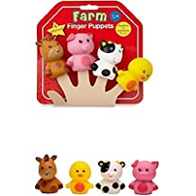 NEW! MAGIC Years Farm Animals 4 FINGER PUPPETS. The FOUR FRIENDLY ANIMALS include 1 horse, 1 duck, 1 pig and 1 cow.