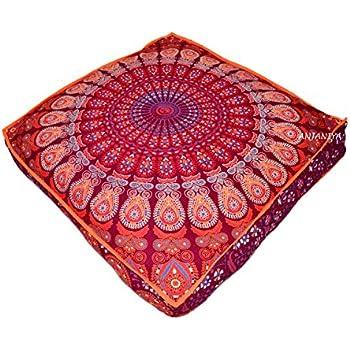 "Amazon.com: ANJANIYA - 35""x35"" Mandala Bohemian Yoga"