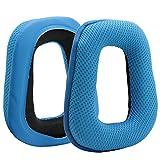 Poyatu Ear Pads for Logitech G35 G430 G930 F450 Headphones Replacement Ear Cushion Earpads Earbuds Blue