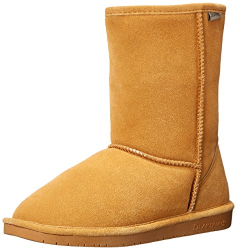 BEARPAW 608W Women's Emma Short Boot, Dark Honey, 6 M US by BEARPAW