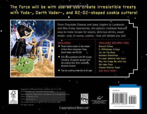 May the Force be with all aspiring Jedi cooks as they use Yoda, Darth Vader, and R2-D2-shaped cookie cutters to create 30 sweet and savory treats! From Chocolate Chewies to Obi-Wan Tons, this galactic cookbook features easy-to-make recipes fo...