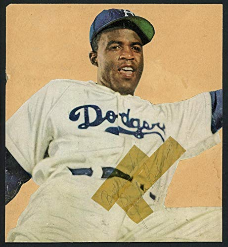 Brooklyn Dodgers Autographed Photo - Jackie Robinson Autographed Photo Collage Cut Signature Brooklyn Dodgers