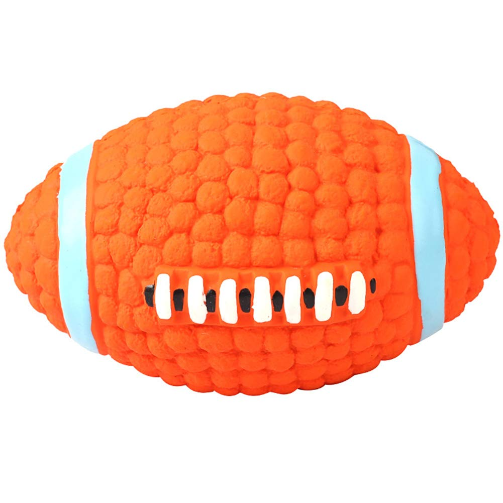D HAOHAO Squeaky Toy Soft Latex Dog Toy Floating Ball for Interactive Fetch & Play, Dog Play Training Wobble Wag Giggle Ball Pet Toys With Funny Sound No Harm Interactive,4pcs