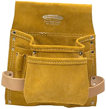 McGuire 8 Pkt. Carpenter's Pouch, Suede Leather 823CSP