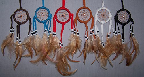 Dream Catchers Handmade Tribal Wall Hanging Decorations 6Pc Pack - Gifts (NpDc176-6 Z)