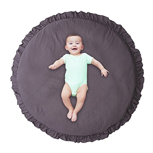 Super Soft Play Mat Round Floor Cushion, 100% Cotton Play Pad, Fluffy Non-Toxic Floor Seating Pillow, 40 Round Area Rugs for Girls Boys Bedroom