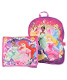 Disney 5 Princess Large Backpack and Detachable Messenger Tote Bag