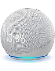 All-new Echo Dot (4th Gen)   Smart speaker with clock and Alexa   Glacier White