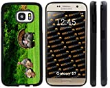Rikki Knight Wild Turkeys in Field Design Samsung Galaxy S7 Case Cover (Black Rubber with front Bumper Protection) for Samsung Galaxy S7