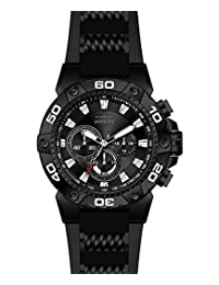 Invicta Men's 'Speedway' Quartz Stainless Steel and Silicone Casual Watch, Black (Model: 22686)