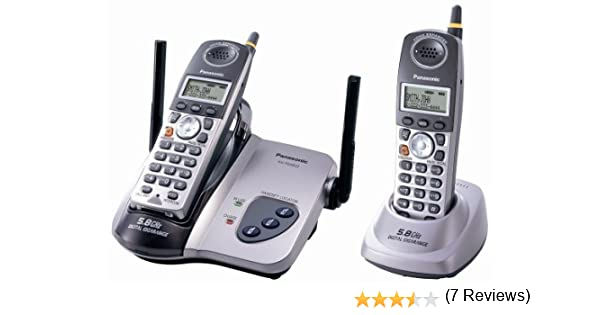 Panasonic KX-TG5622 M 5.8 GHz FHSS GigaRange Digital – teléfono inalámbrico con dos terminales: Amazon.es: Electrónica
